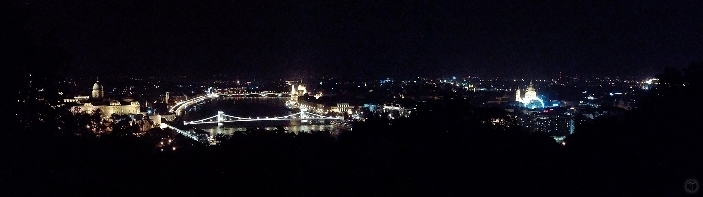 Budapest Panorama at Night