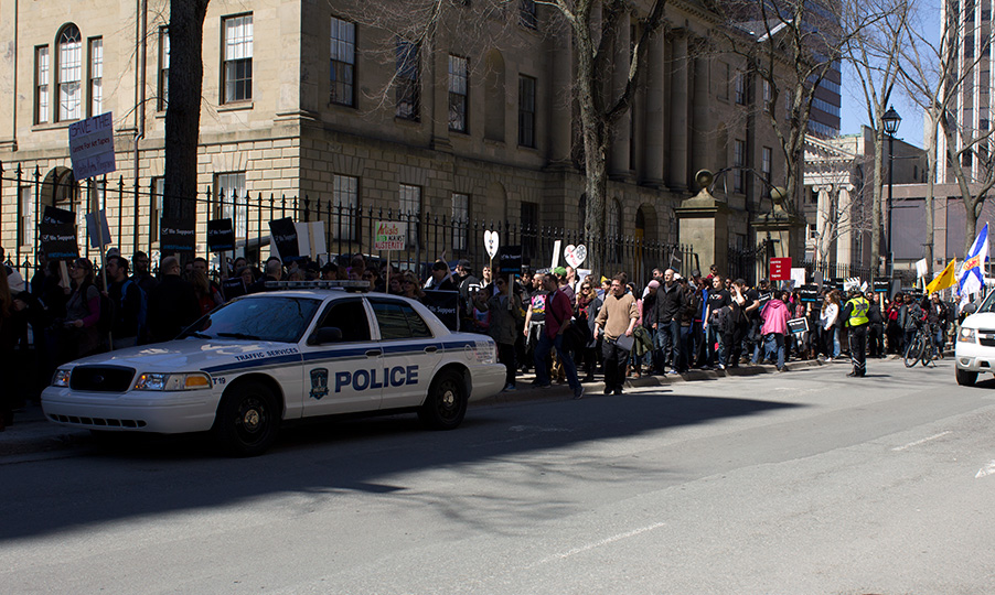 Crowd at Nova Scotia Legislature Rally