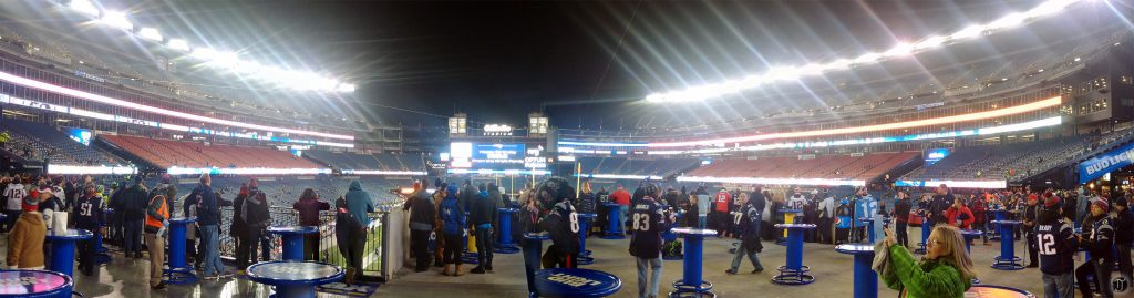 Panorama of Patriot Place before the 'hawks beat the pats