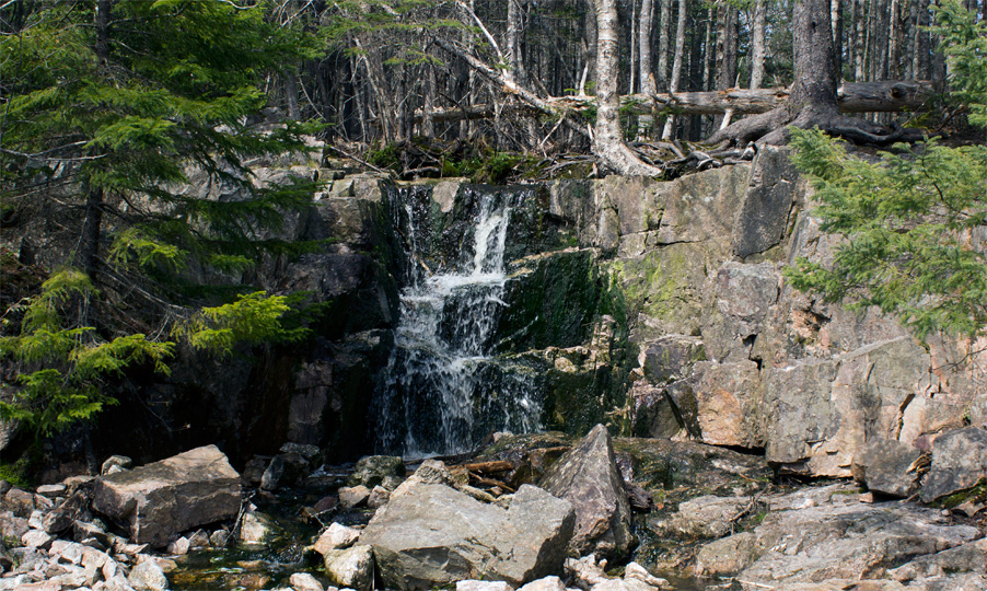 Waterfall near Governor Lake on BLT