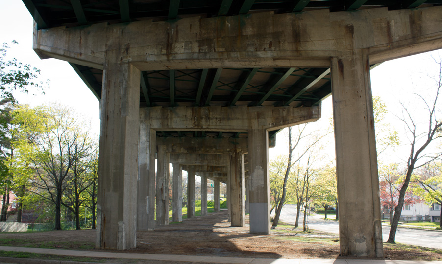 Ashburn Avenue: Bayers Road Overpass