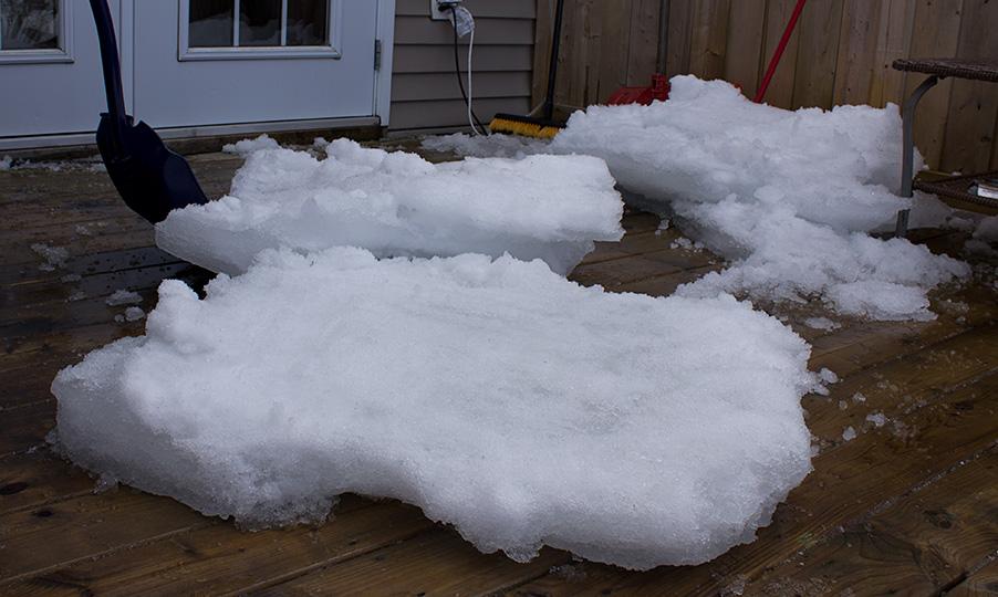 Back Deck Ice Free